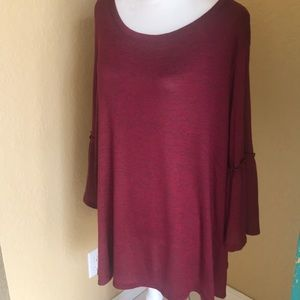 Obsession NWT bell sleeve tunic